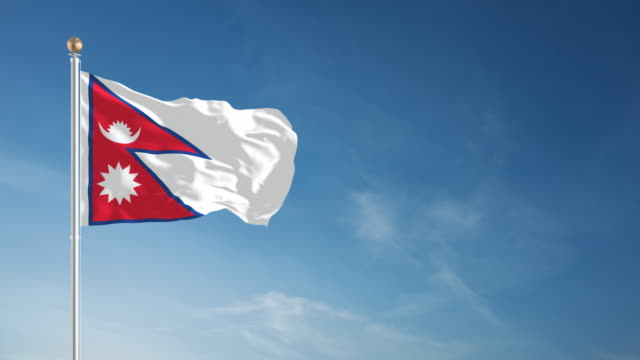 4K Nepal Flag - Loopable