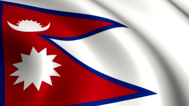 nepal flag loopable - nepali flag stock videos & royalty-free footage