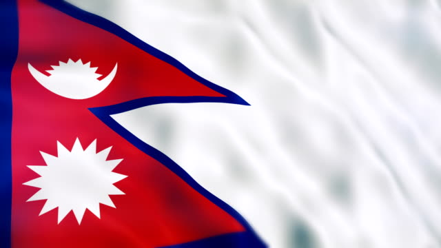 nepal flag - nepal stock videos & royalty-free footage