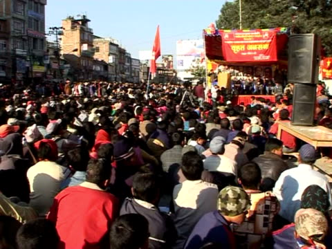 nepal is ending 2007 on a high note after former maoist rebels agreed to rejoin the government, ending months of political deadlock that threatened... - politics and government stock videos & royalty-free footage