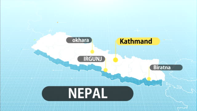 nepal map - nepali flag stock videos & royalty-free footage