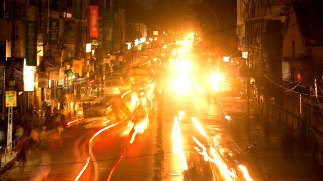 nepal night traffic - india stock videos & royalty-free footage