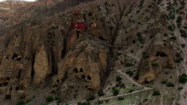 nepal : troglodyte houses - cliff dwelling stock videos & royalty-free footage