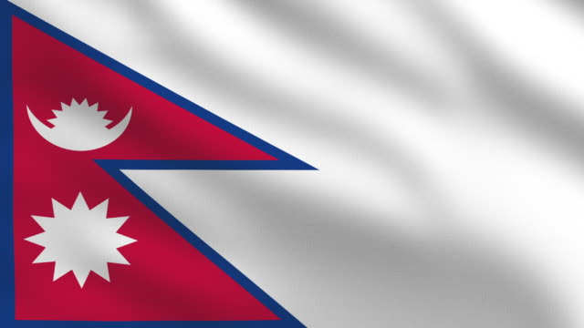 nepalese flag - nepali flag stock videos & royalty-free footage