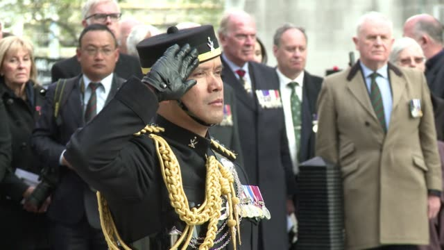 vídeos y material grabado en eventos de stock de nepalese soldiers in the british army the gurkhas mark the 200th anniversary of their brigade's foundation in an event marred by the devastating... - gurkha