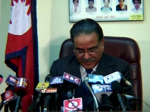nepal's maoist prime minister prachanda resigned monday plunging the country into a major political crisis triggered by a standoff between his... - maoism stock videos & royalty-free footage
