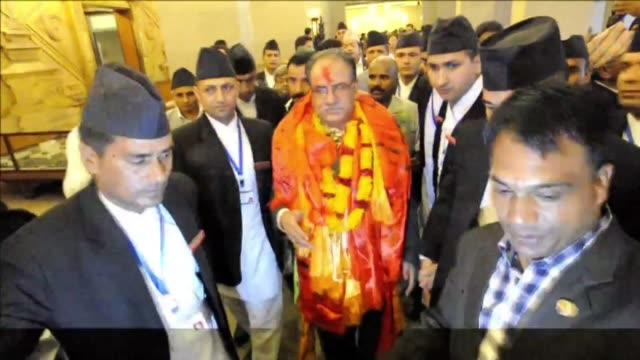 nepal's new prime minister pushpa kamal dahal pledges to unite a country hit by deadly protests over constitutional changes after lawmakers elected... - maoism stock videos & royalty-free footage