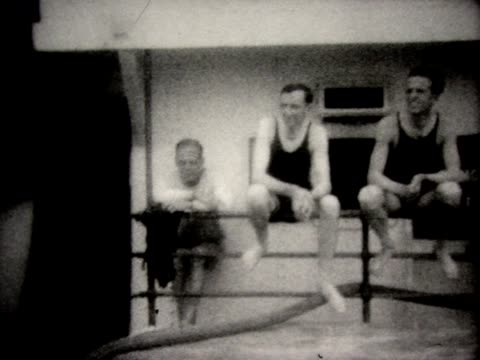 1928 neptune ceremony upon crossing the equator - 1928 stock videos & royalty-free footage