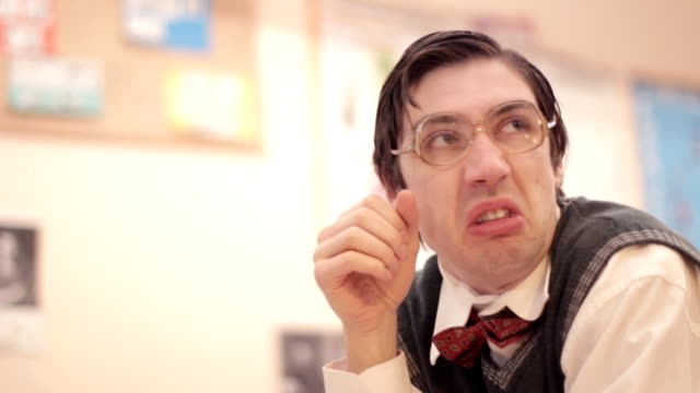 nerd - eccentric stock videos & royalty-free footage