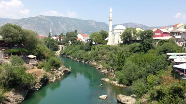 neretva river - mostar, bosnia and herzegovina - mos stock videos & royalty-free footage