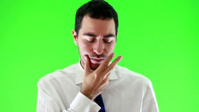 Nervoso Uomo d'affari Chroma Key (HD)