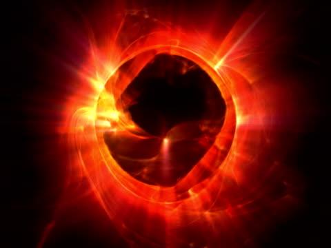 vídeos y material grabado en eventos de stock de nervioso halo ntsc - mancha solar