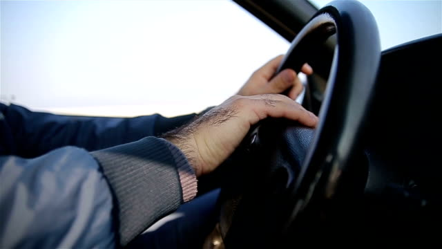 nervousness in traffic - steering wheel stock videos and b-roll footage