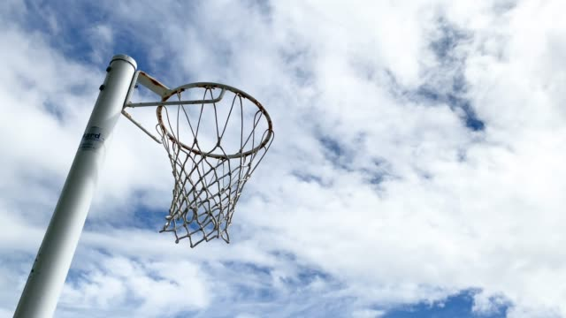 netball being shot into netball net - taking a shot sport stock videos & royalty-free footage