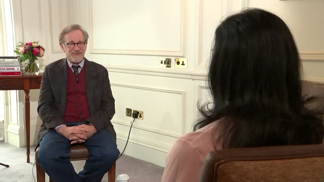 netflix barred from competing at cannes film festival t200318022 / tx london int steven spielberg interview sot once you commit to a television... - netflix stock videos & royalty-free footage