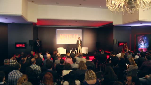Netflix cofounder and CEO Reed Hastings speaks during a press conference on Netflix's release of Turkish service on September 22 2016 in Istanbul...