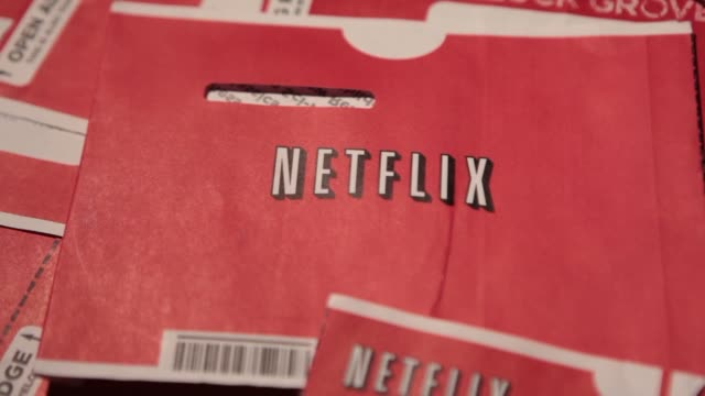 netflix inc dvd mailers are arranged for a photograph in washington dc us netflix dvd envelopes on january 20 2014 in washington dc district of... - netflix stock videos & royalty-free footage