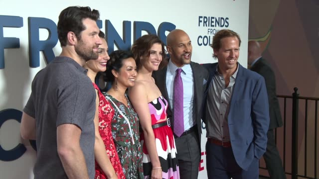 clean netflix original series friends from college red carpet premiere at amc 34th street on june 26 2017 in new york city - netflix stock videos & royalty-free footage