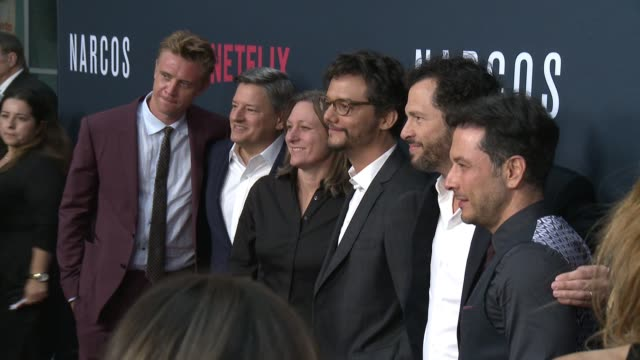 """""""narcos"""" season two premiere in los angeles ca - pedro pascal stock videos & royalty-free footage"""