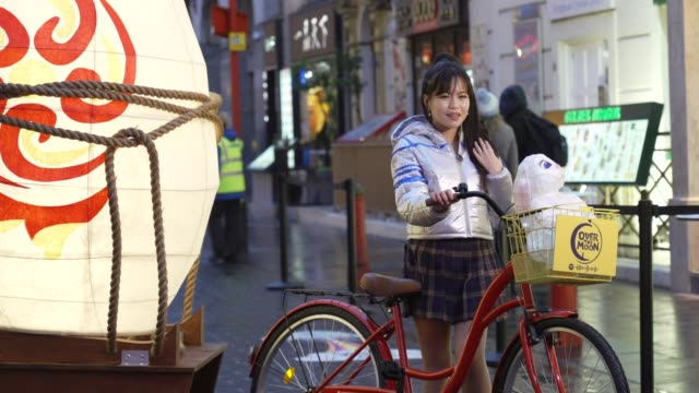 netflix unveils a magical lantern installation in london's chinatown ahead of the global debut of new film over the moon on october 21 2020 in london... - lantern stock videos & royalty-free footage