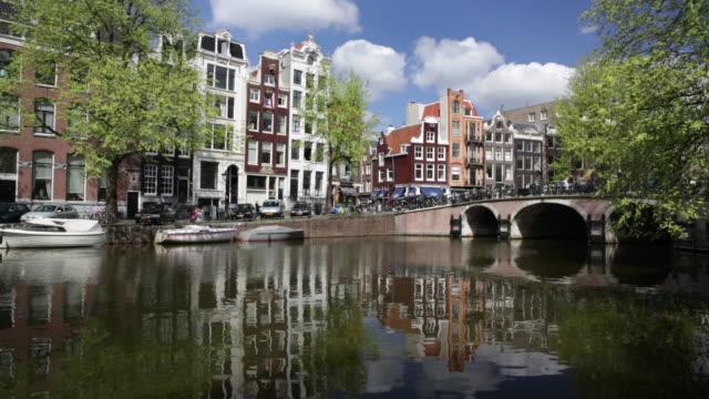 Netherlands, Amsterdam, Canal called Singel, UNESCO World heritage Site
