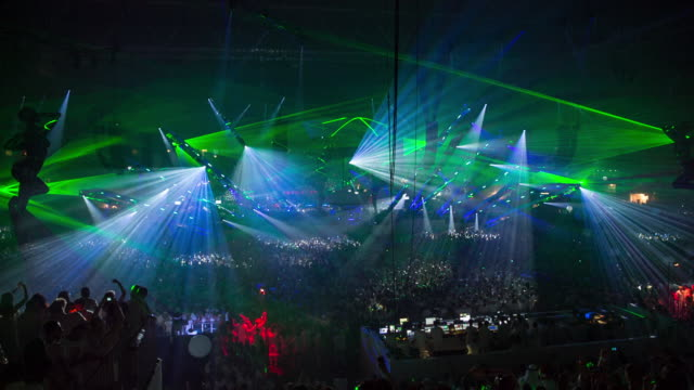 stockvideo's en b-roll-footage met netherlands, amsterdam, sensation, the world's leading dance event. world premiere of 'welcome to the pleasuredome', in the amsterdam arena. 5 july 2014.
