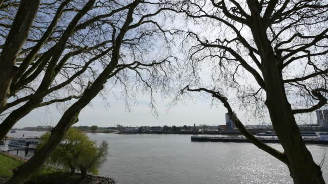 netherlands barge on de lek at schoonhoven time lapse - lek stock videos & royalty-free footage