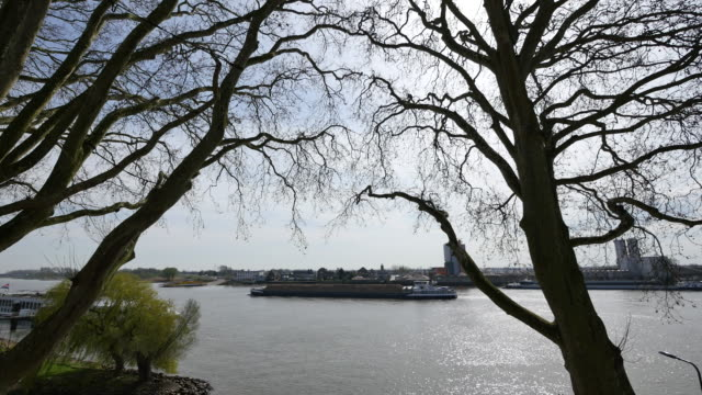 netherlands de lek at schoonhoven barge - lek stock videos & royalty-free footage