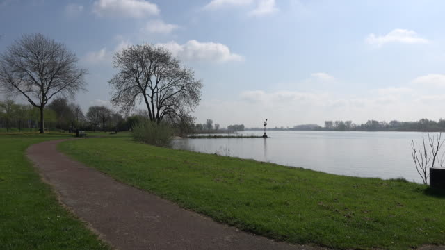 netherlands der lek river view - lek stock videos & royalty-free footage