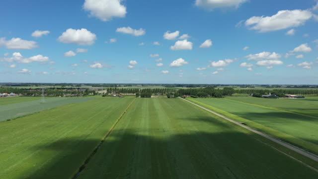 nederländerna, holländsk himmel, gröna ängar - högväxt bildbanksvideor och videomaterial från bakom kulisserna