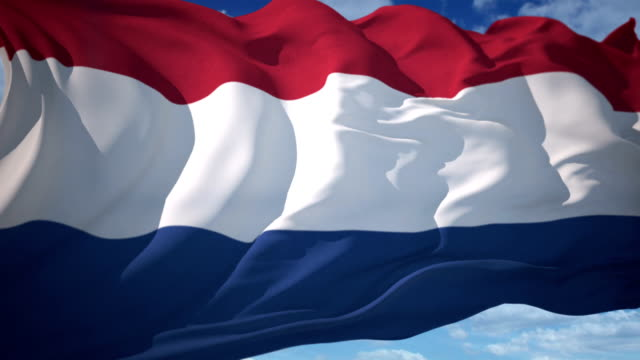 netherlands flag - netherlands stock videos & royalty-free footage