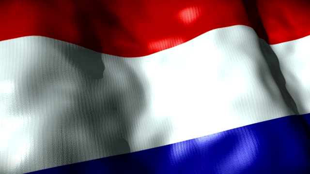 netherlands flag waving, looping - waving icon stock videos & royalty-free footage