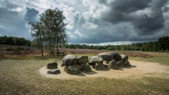 Netherlands, Havelte, Heathland called Holtingerveld Heide. Megalithic tomb called Hunebed. Number Havelterberg 54