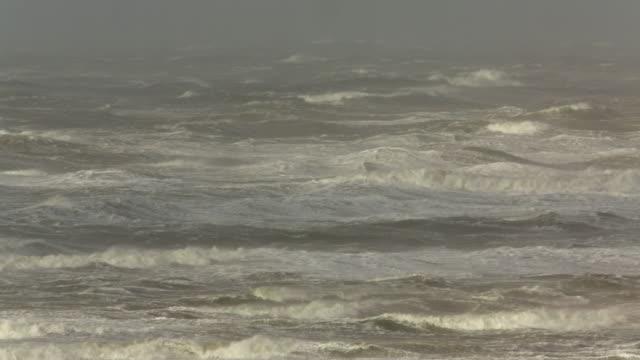 netherlands, ijmuiden, heavy storm on north sea - north sea stock videos & royalty-free footage