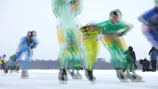Netherlands, Loosdrecht, Annual 100 km race ice skating