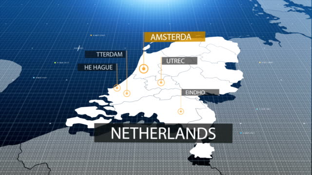 netherlands map with label then with out label - holland stock videos and b-roll footage