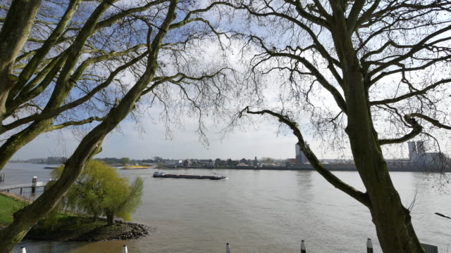netherlands schoonhoven barge on de lek - lek stock videos & royalty-free footage