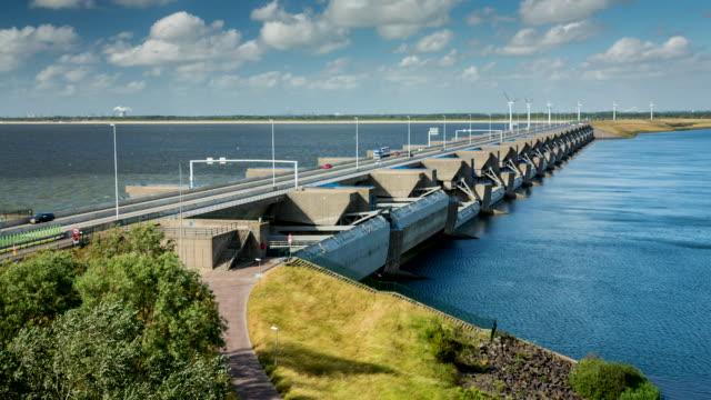 Netherlands, Stellendam, Haringvliet Dam, part of Delta Works