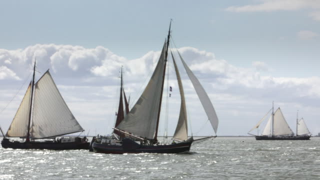 Netherlands, Volendam, Annual race of traditional sailings ships called Pieperrace