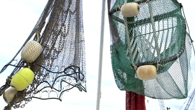 Nets on commercial fishing boat