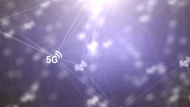 network abstract - torre delle telecomunicazioni video stock e b–roll