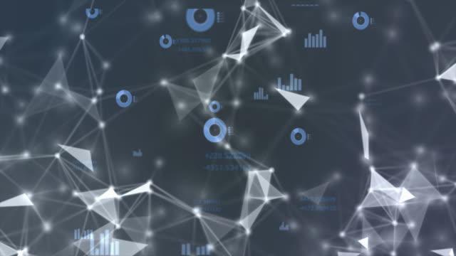 Netzwerk und Grafik-Datenverbindungen. Technologie abstrakte blauen Hintergrund.