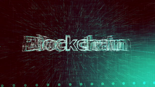 network concept animation, blockchain word - blockchain stock videos & royalty-free footage
