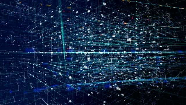 ネットワークの概念は、クラウド ・ コンピューティング、デジタル環境 - big data点の映像素材/bロール