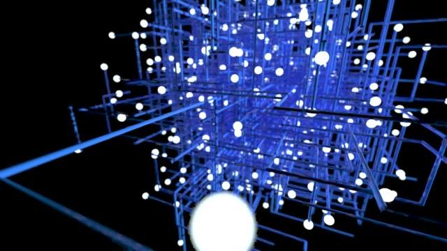 ネットワーク接続 3d アニメーション - 断面点の映像素材/bロール