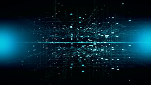vídeos de stock, filmes e b-roll de rede de conexões simulação, comunicações de internet, grande volume de dados, internet das coisas - aprendizagem automática