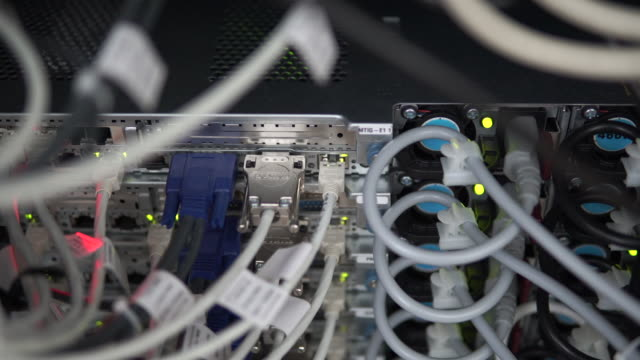 network equipment - wire stock videos & royalty-free footage
