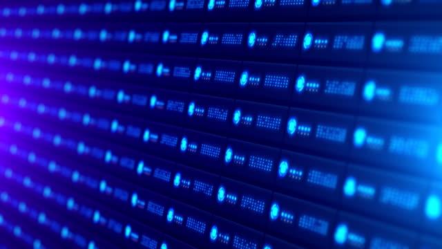stockvideo's en b-roll-footage met de gegevens van de server van het netwerk - opslagkamer