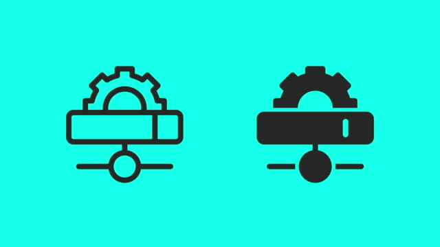 Network Server Setting Icons - Vector Animate