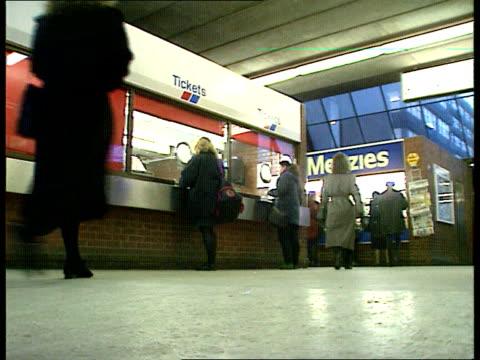 network southeast propose fare increases england lams station concourse - fare video stock e b–roll